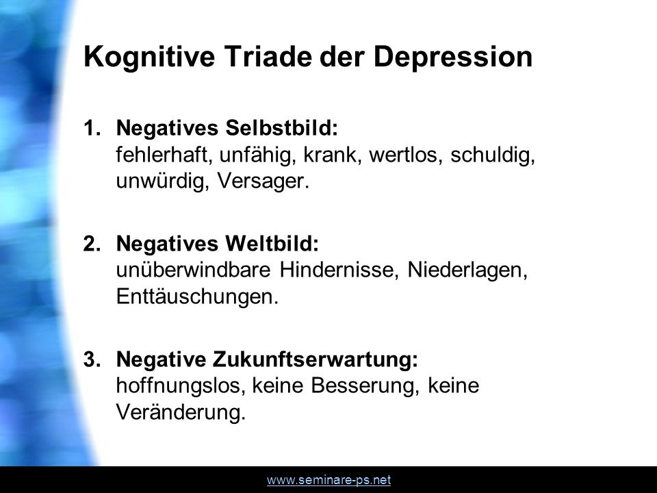 Kognitive Triade der Depression