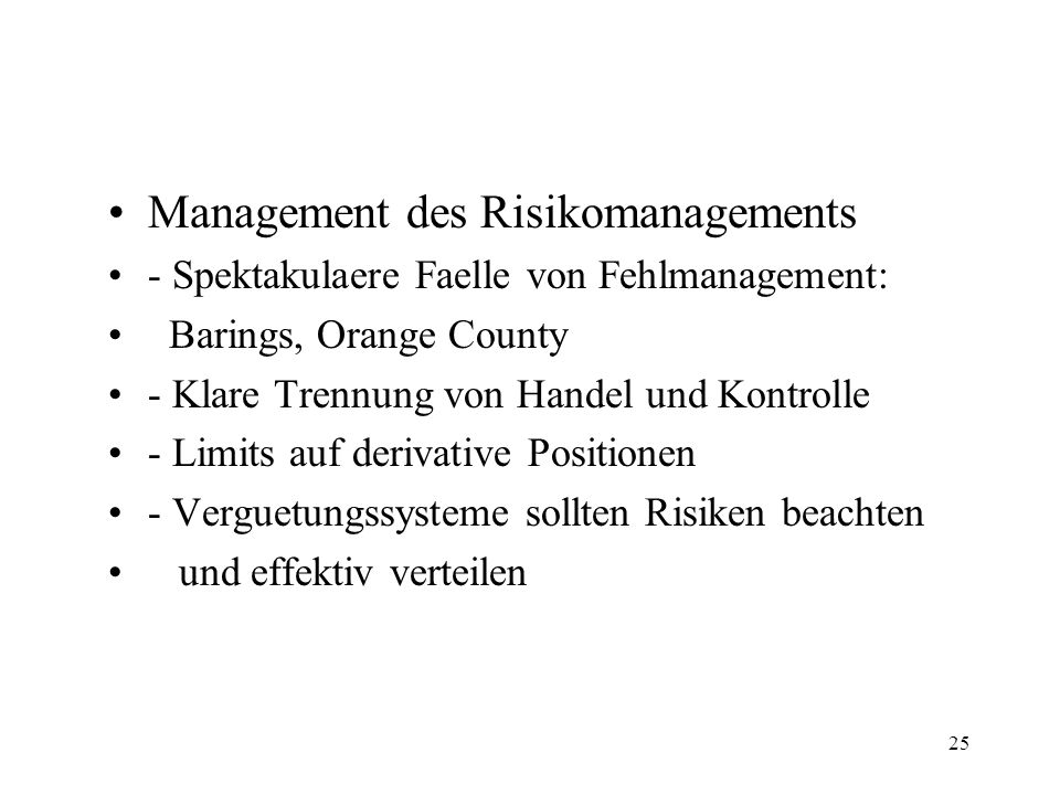Management des Risikomanagements