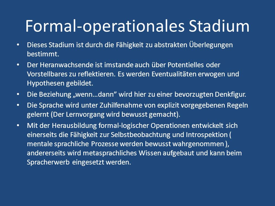 Formal-operationales Stadium