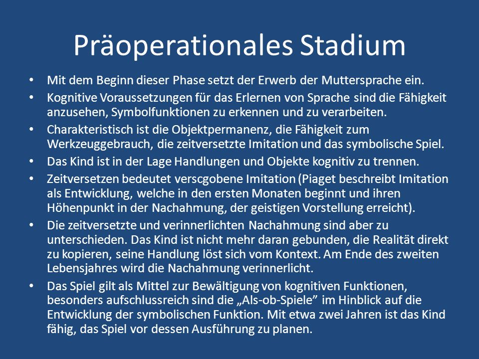 Präoperationales Stadium