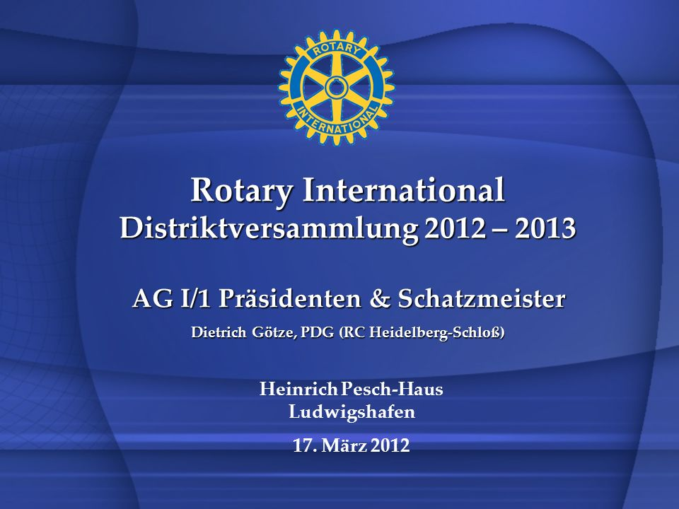 Rotary International Distriktversammlung 2012 – 2013