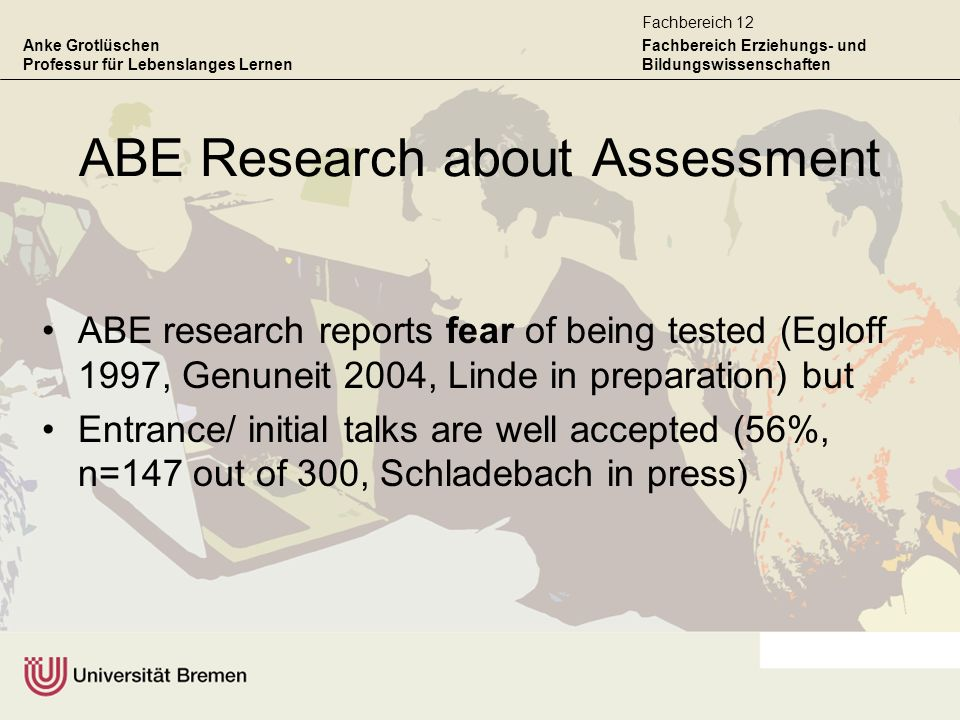 ABE Research about Assessment
