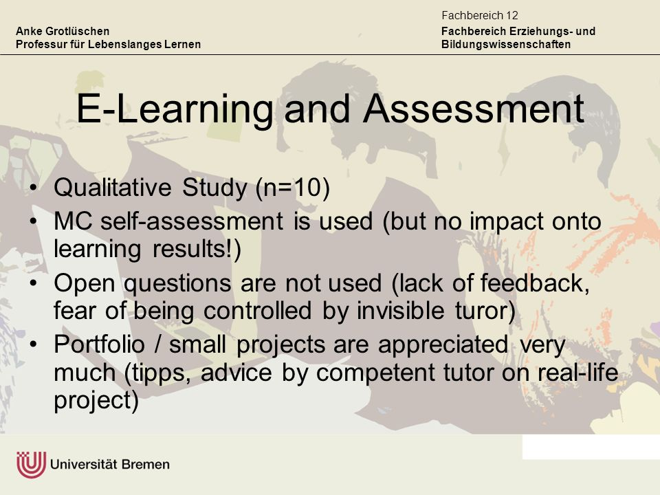 E-Learning and Assessment