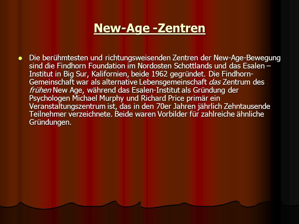 New-Age -Zentren