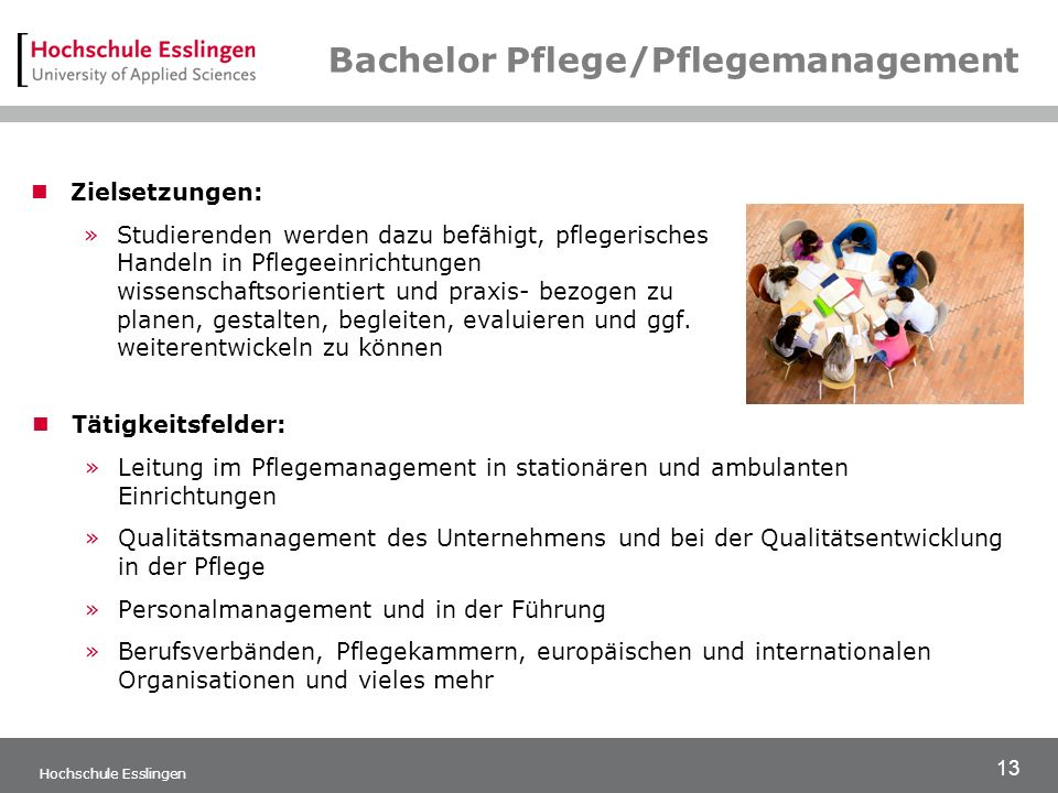 Bachelor Pflege/Pflegemanagement