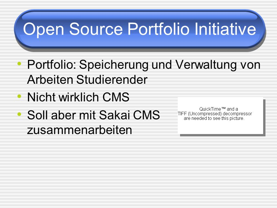 Open Source Portfolio Initiative