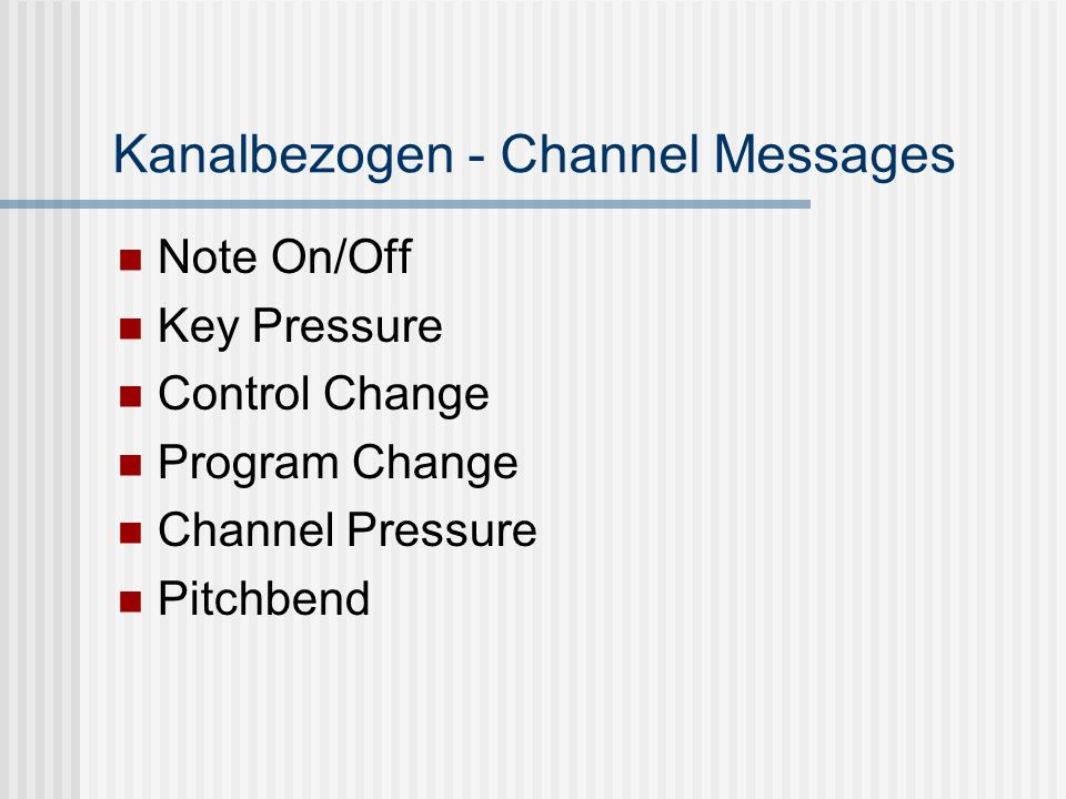 Kanalbezogen - Channel Messages