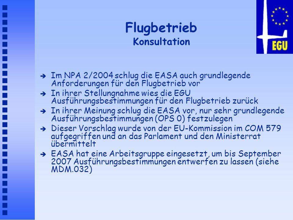 Flugbetrieb Konsultation