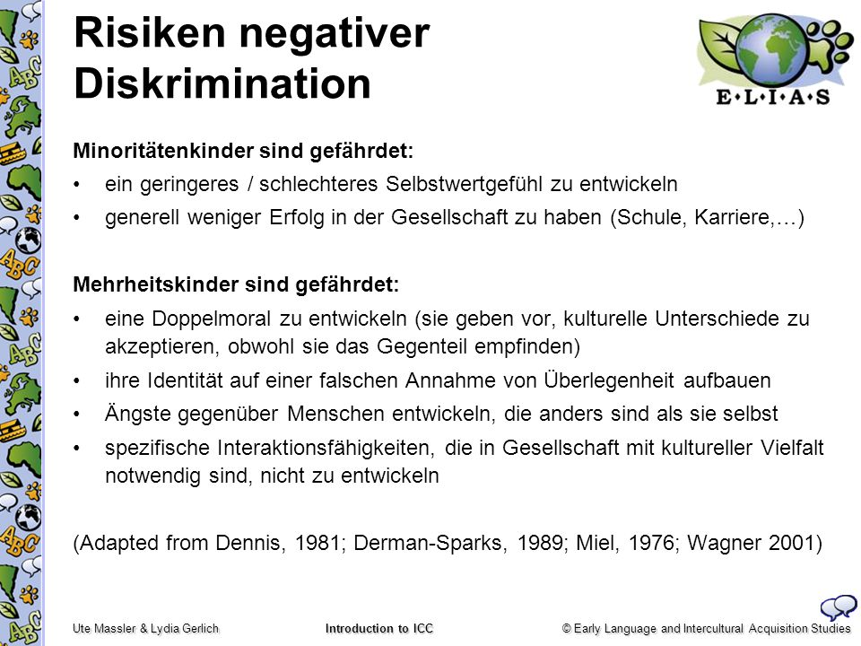 Risiken negativer Diskrimination