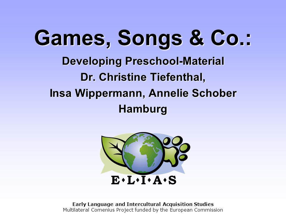 Games, Songs & Co. : Developing Preschool-Material Dr