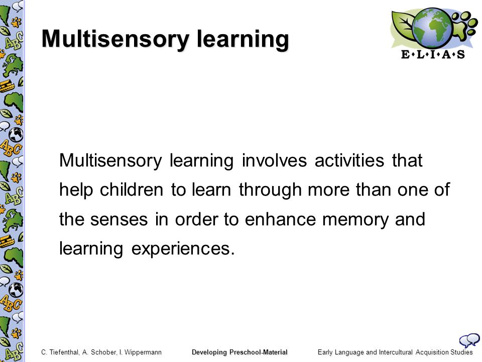 Multisensory learning