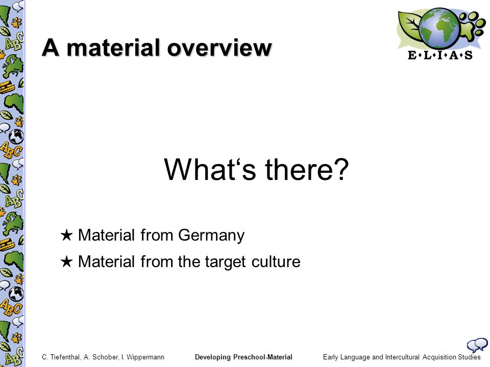 ★ Material from Germany