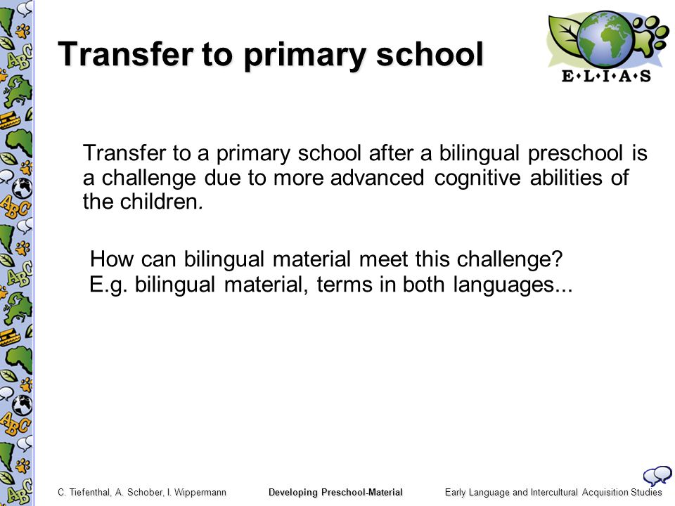 Transfer to primary school