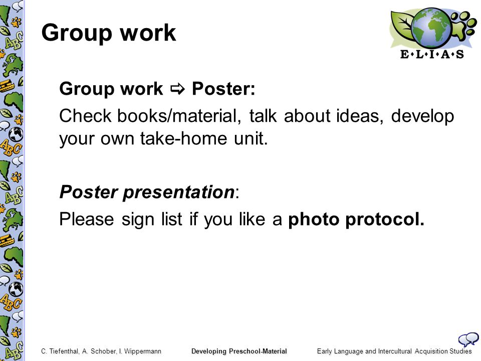 Group work Group work  Poster: