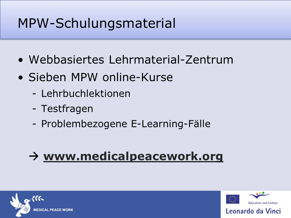 MPW-Schulungsmaterial
