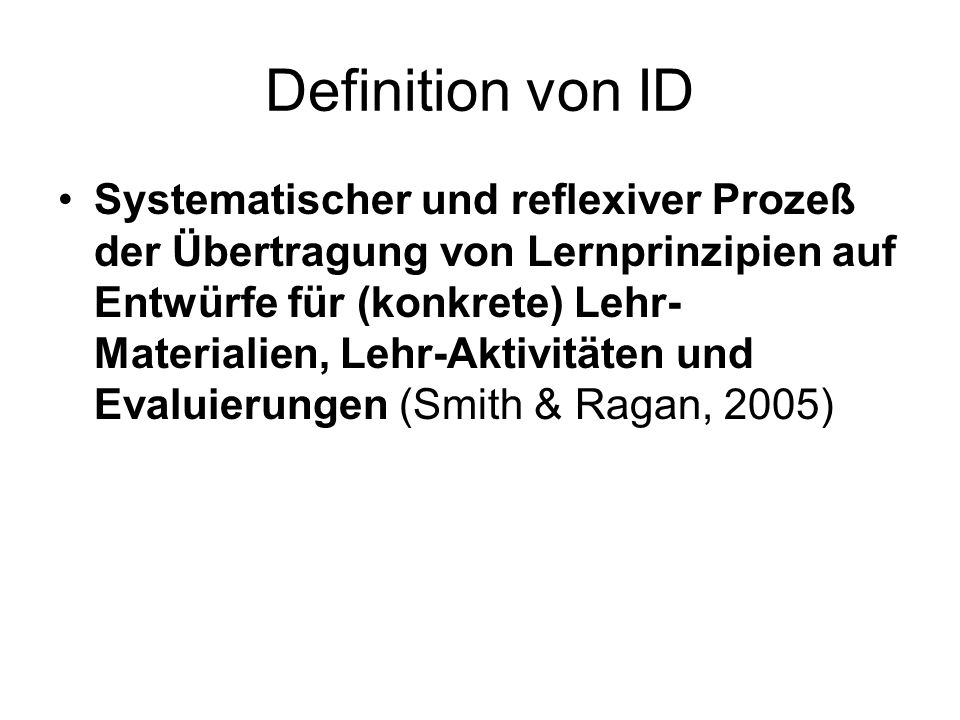 Definition von ID