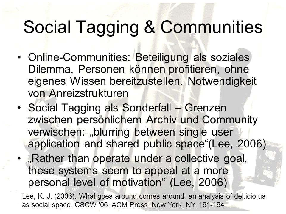 Social Tagging & Communities