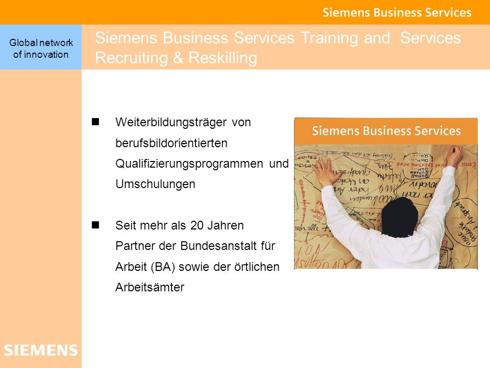 Siemens Business Services Training and Services Recruiting & Reskilling