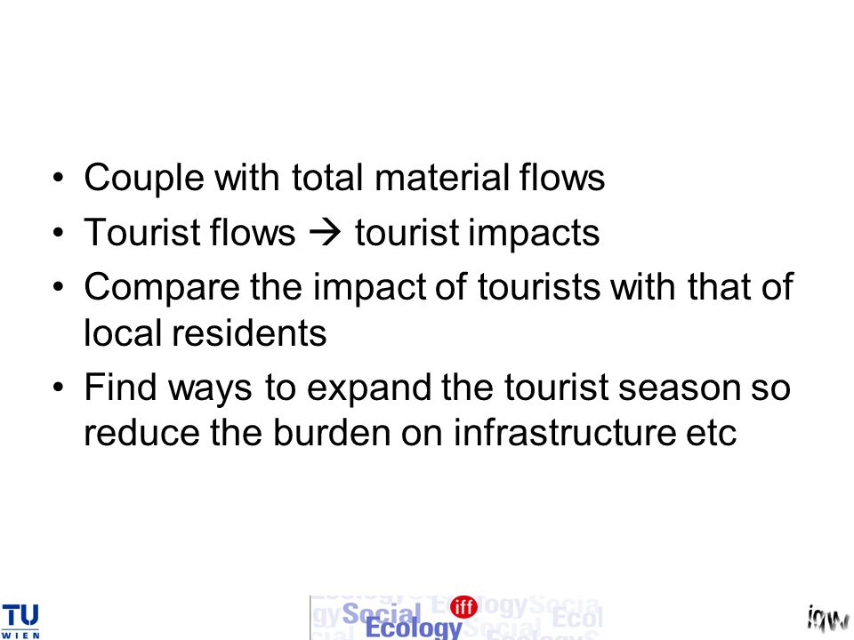 Couple with total material flows