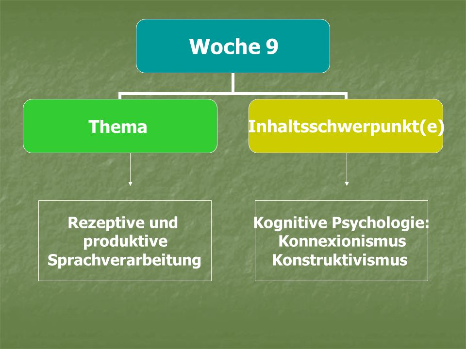 Kognitive Psychologie: