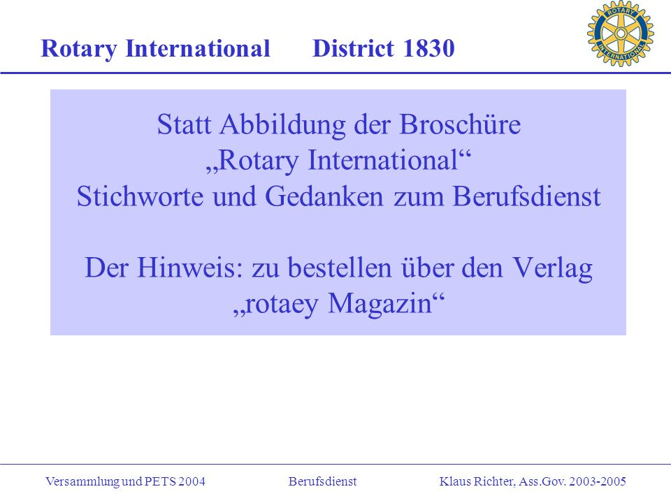 Rotary International District 1830