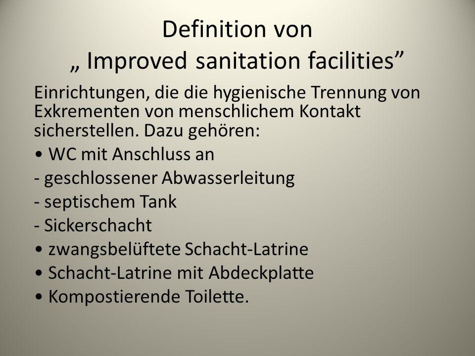 "Definition von "" Improved sanitation facilities"