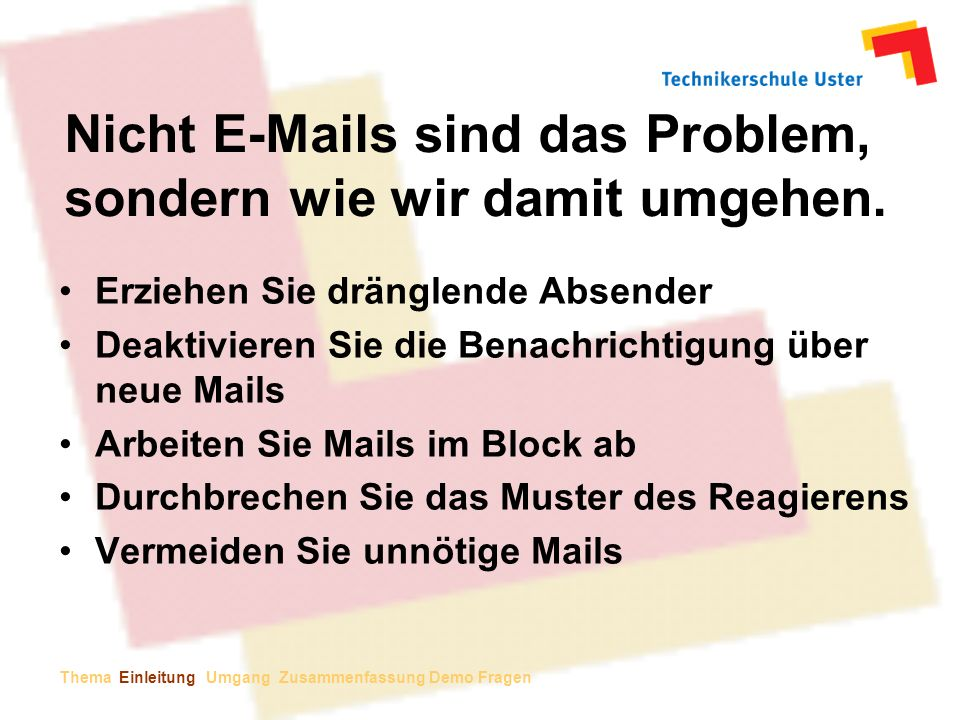 Zeitmanagement Mit Microsoft Office Outlook Ppt Herunterladen