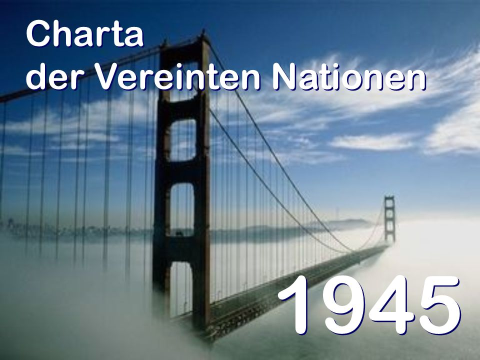 Charta der Vereinten Nationen