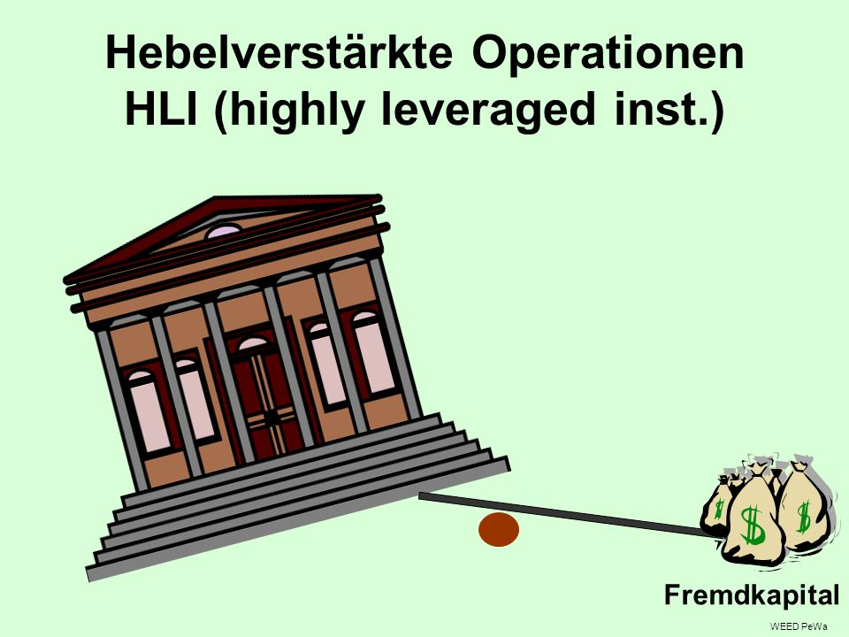 Hebelverstärkte Operationen HLI (highly leveraged inst.)