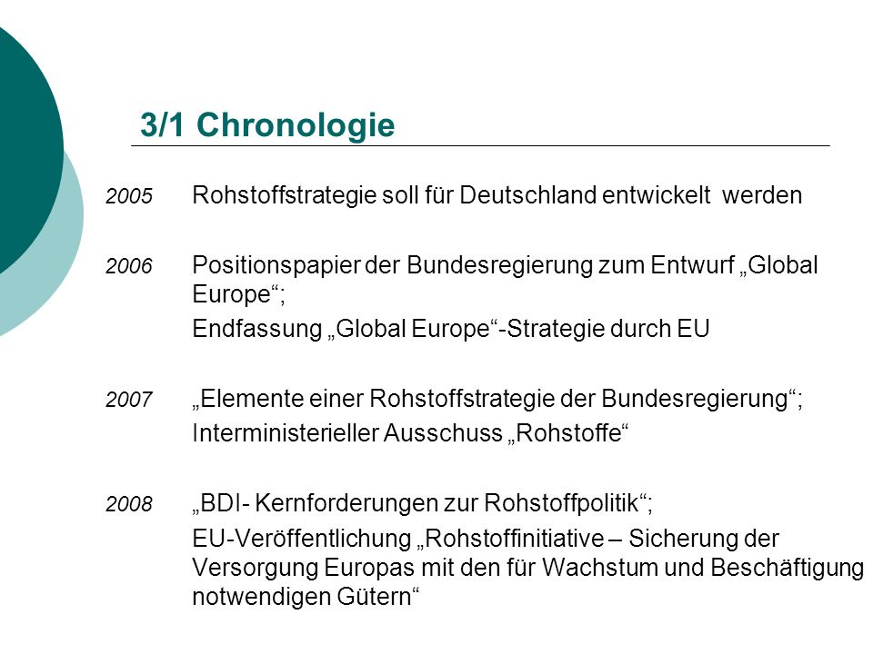 "3/1 Chronologie Endfassung ""Global Europe -Strategie durch EU"