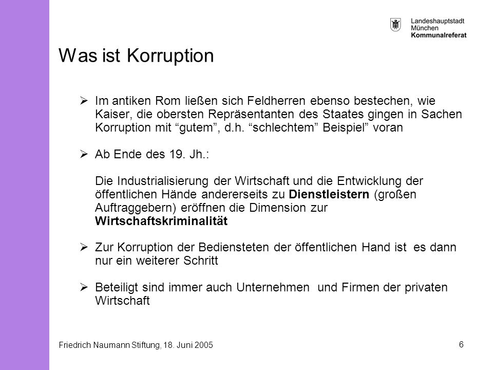 Was ist Korruption