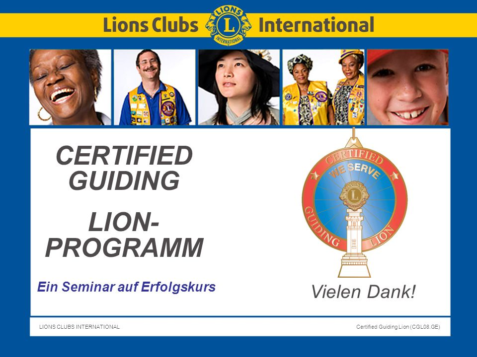 CERTIFIED GUIDING LION-PROGRAMM
