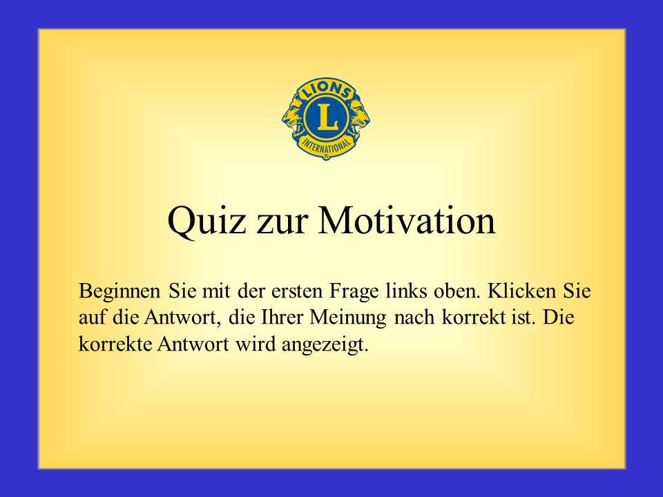 Quiz zur Motivation