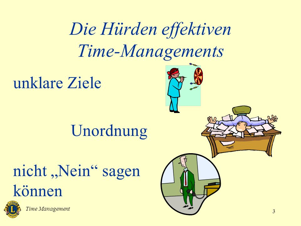 Die Hürden effektiven Time-Managements
