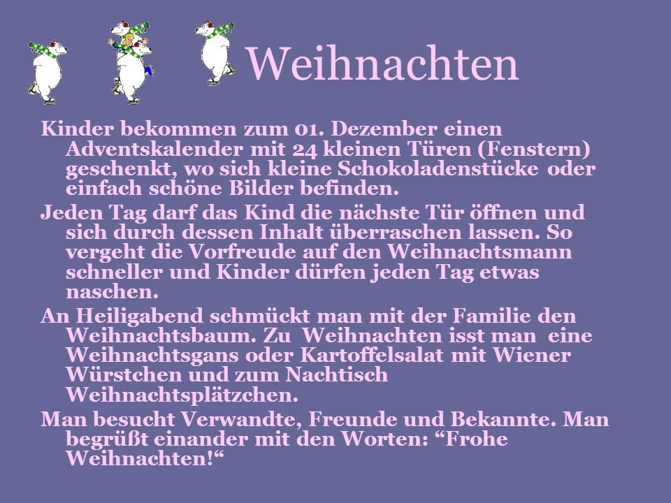 Definition Weihnachten.Weihnachten In Deutschland Ppt Herunterladen