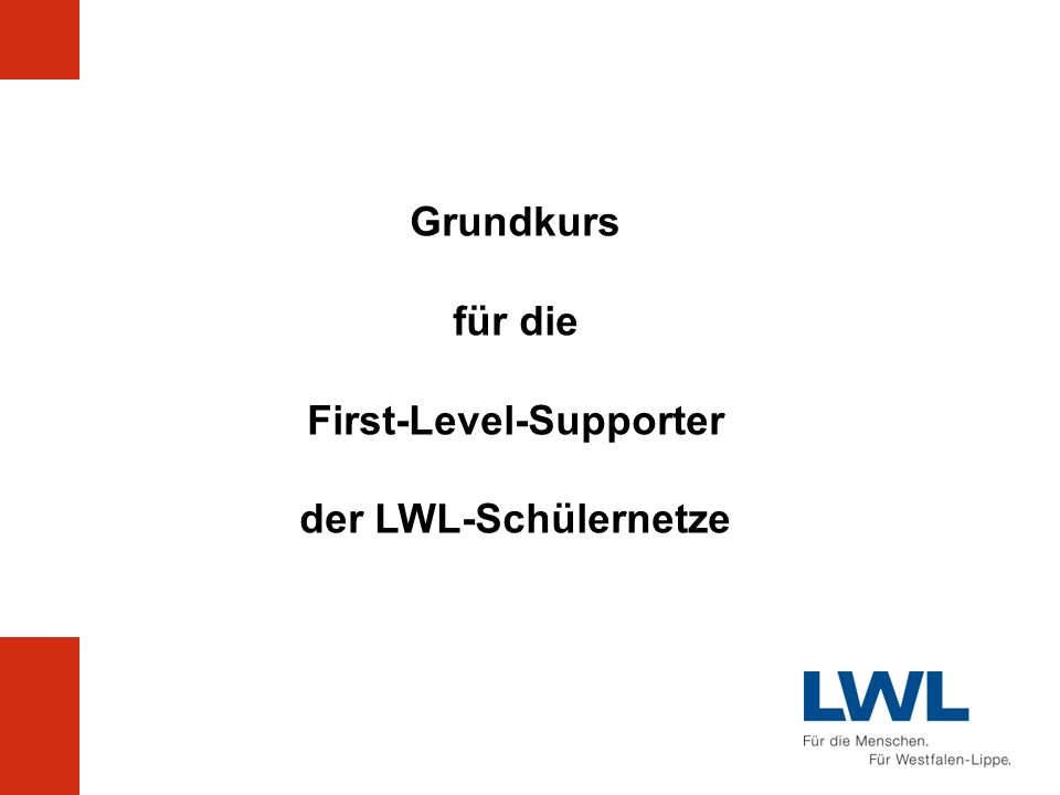 First-Level-Supporter