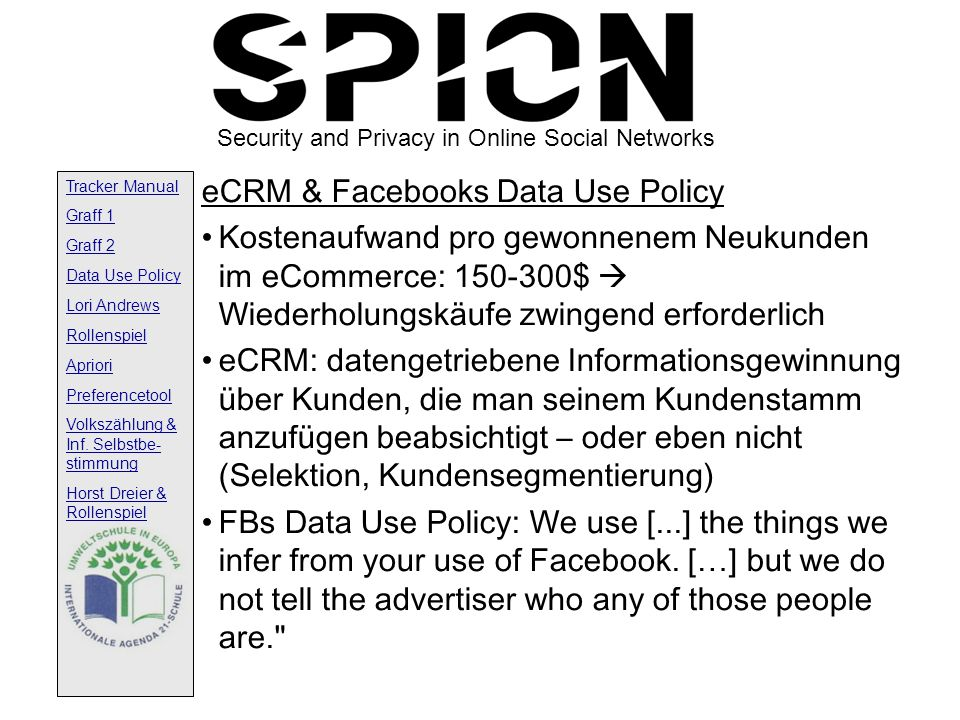 eCRM & Facebooks Data Use Policy