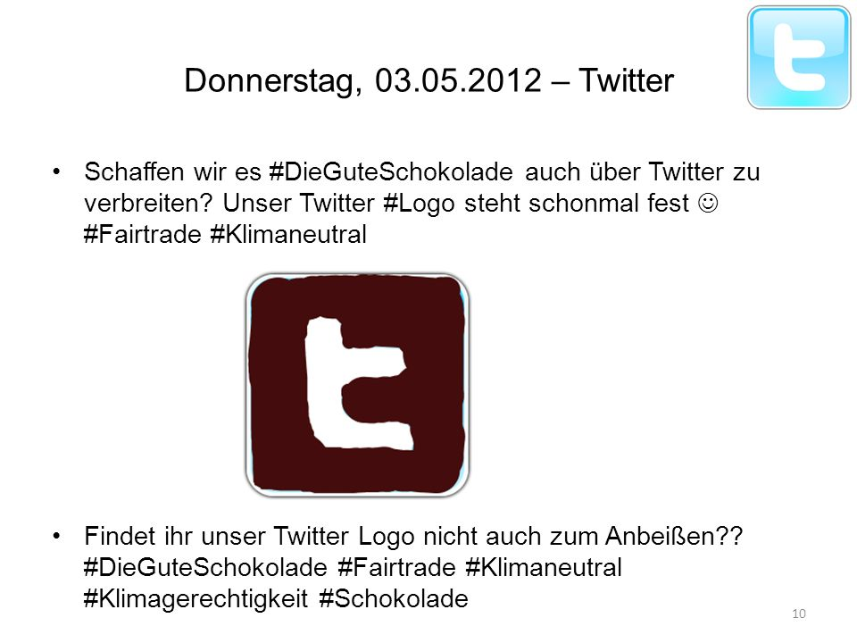 Donnerstag, – Twitter