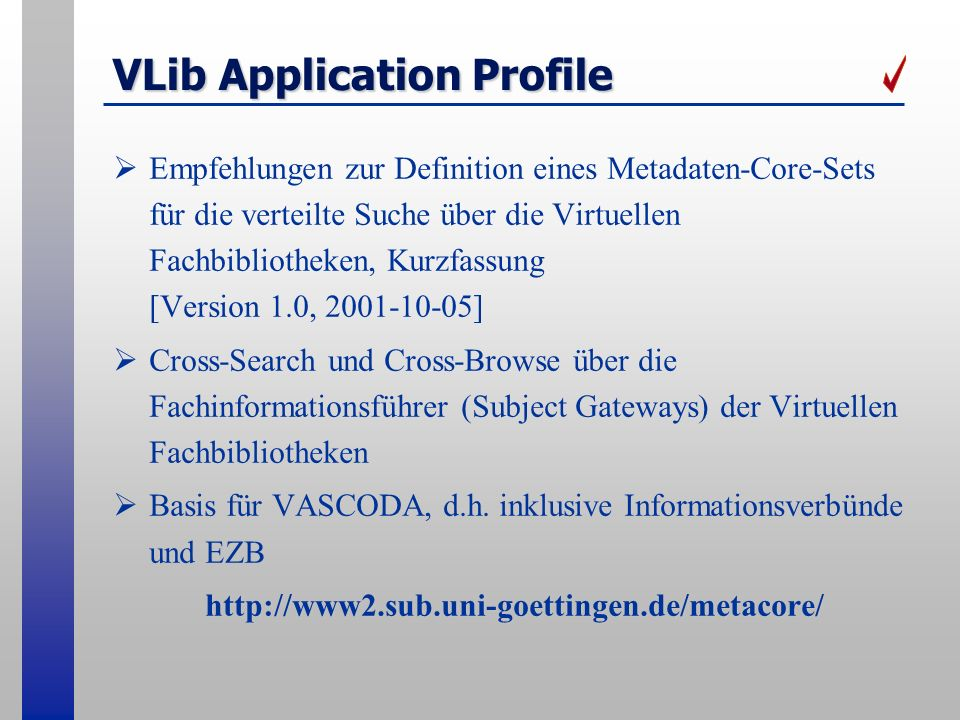 VLib Application Profile