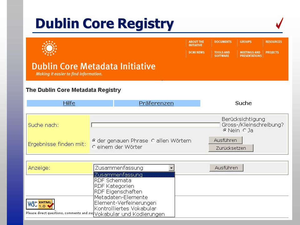 Dublin Core Registry