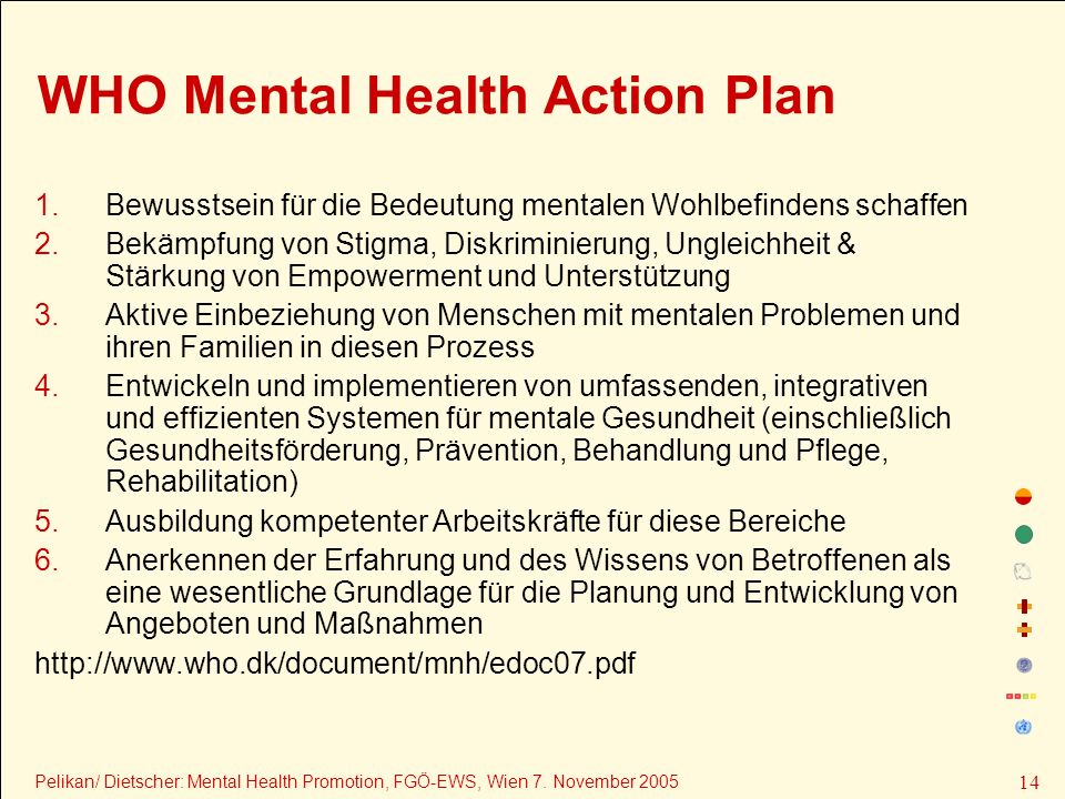 WHO Mental Health Action Plan