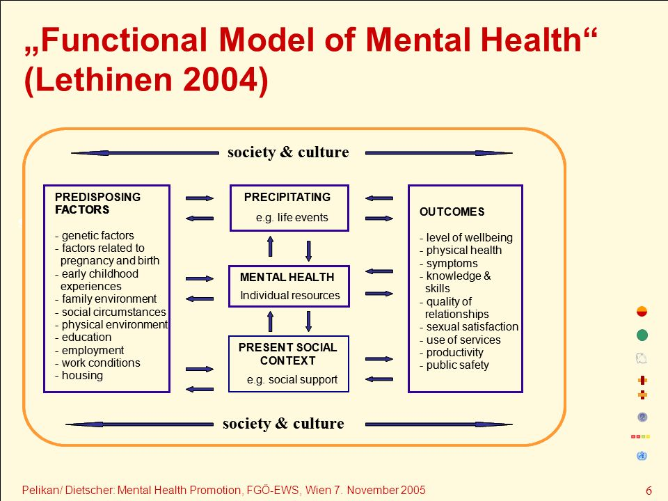 """Functional Model of Mental Health (Lethinen 2004)"