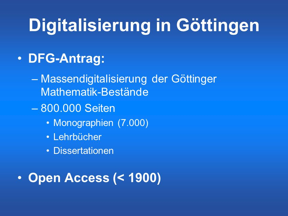 Digitalisierung in Göttingen