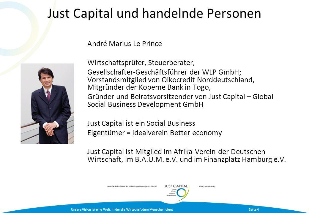 Just Capital und handelnde Personen