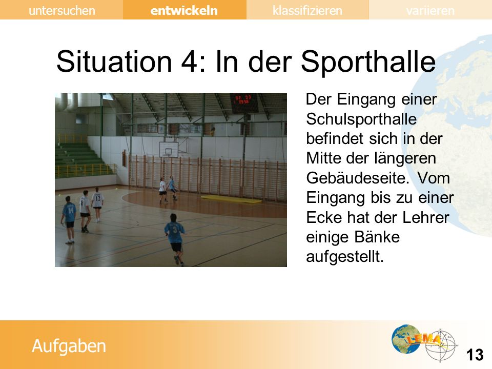 Situation 4: In der Sporthalle