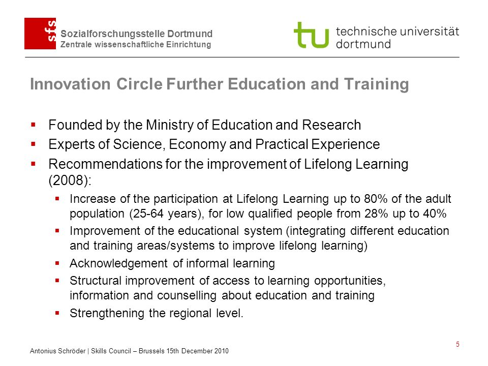 Innovation Circle Further Education and Training