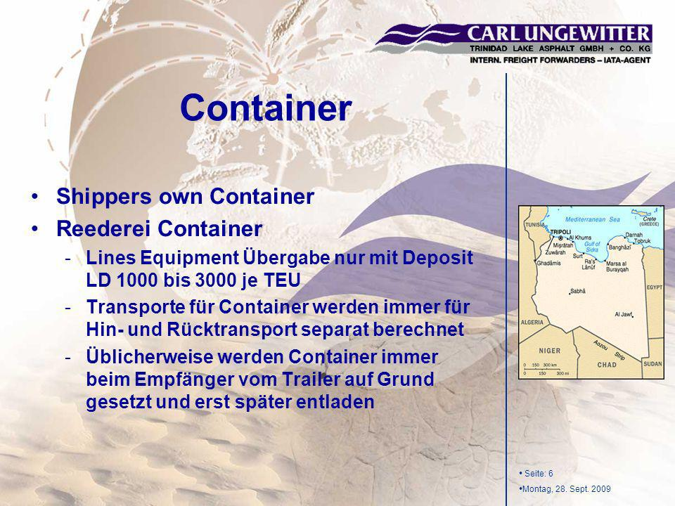 Container Shippers own Container Reederei Container