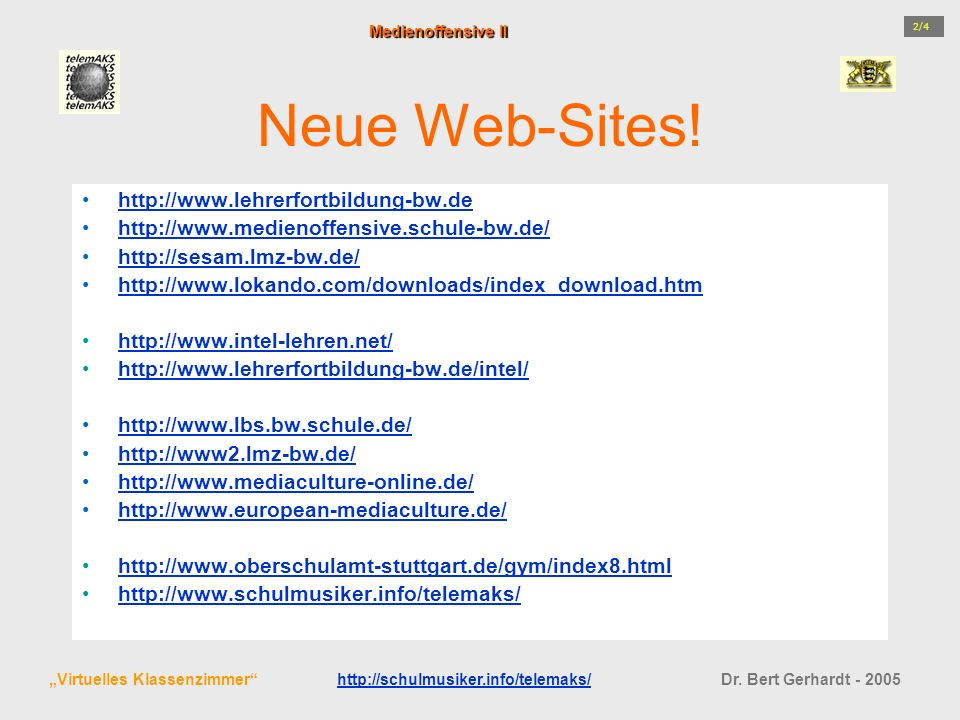 Neue Web-Sites!