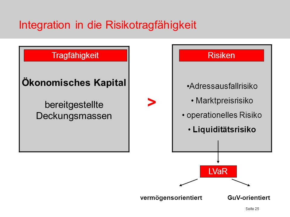 Integration in die Risikotragfähigkeit