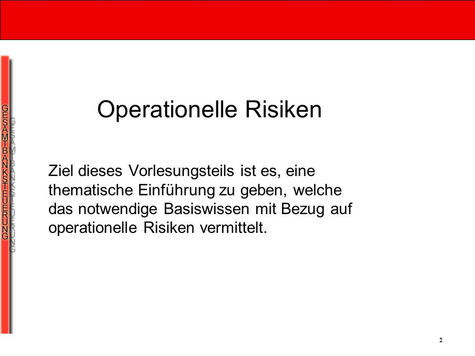 Operationelle Risiken